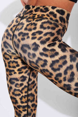 Terez Leopard Goals Tall Band Leggings image 4 - The Sports Edit