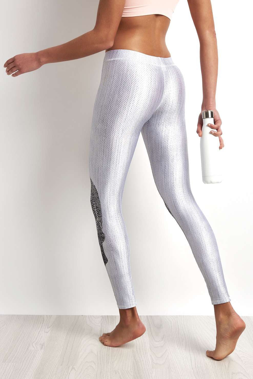 Terez Crystal Skull White Legging image 2 - The Sports Edit