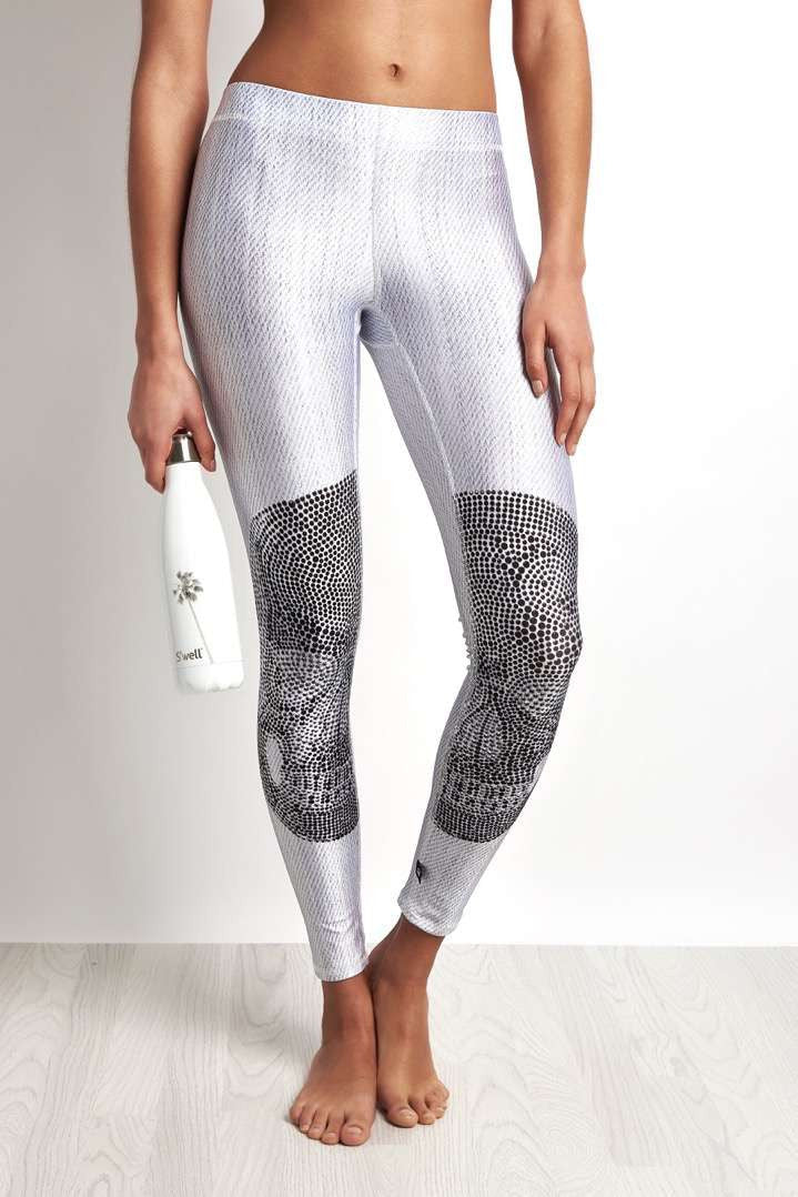 Terez Crystal Skull White Legging image 1 - The Sports Edit