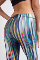 Terez Rainbow Liquid Metal Leggings image 3 - The Sports Edit