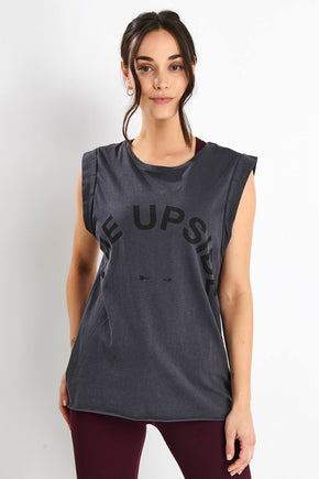 6ca7be47ff THE UPSIDE Vintage Muscle Tank - Charcoal image 1 - The Sports Edit