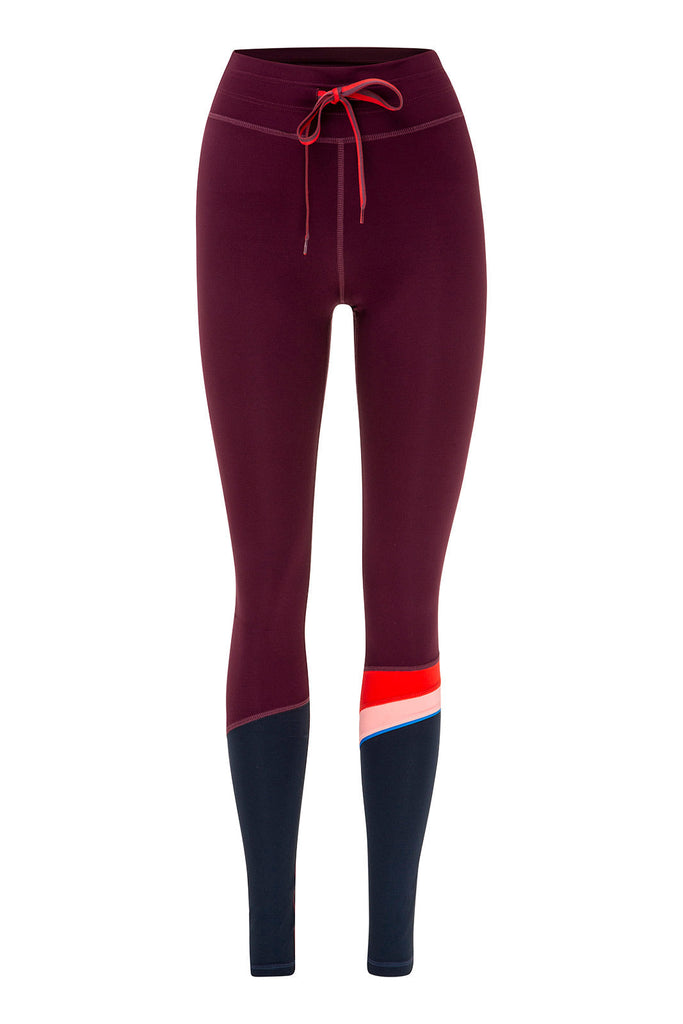 0abcdc5d836fe THE UPSIDE Maroon Retro Yoga Pant image 6 - The Sports Edit