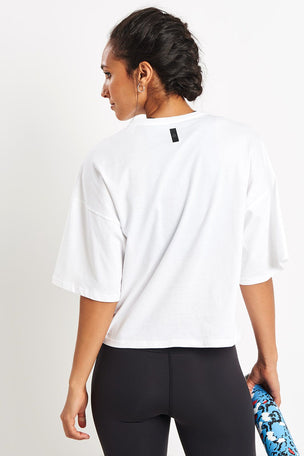 Reebok Training Supply Pocket Tee - White image 2 - The Sports Edit