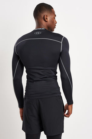Under Armour UA ColdGear Armour Compression Crew T-Shirt Black image 2 - The Sports Edit
