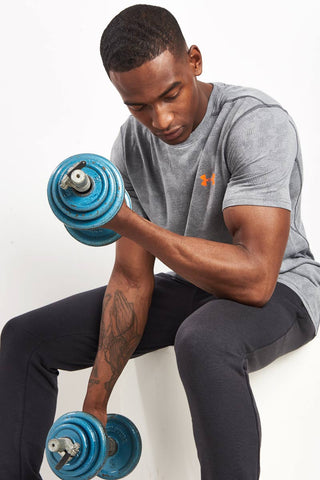 Under Armour Threadborne Elite Fitted Tee - Grey image 1 - The Sports Edit