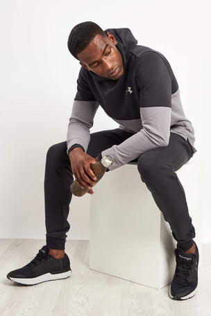 Under Armour Threadborne Hoodie-Black/Grey image 4 - The Sports Edit