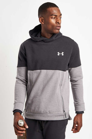 Under Armour Threadborne Hoodie-Black/Grey image 1 - The Sports Edit
