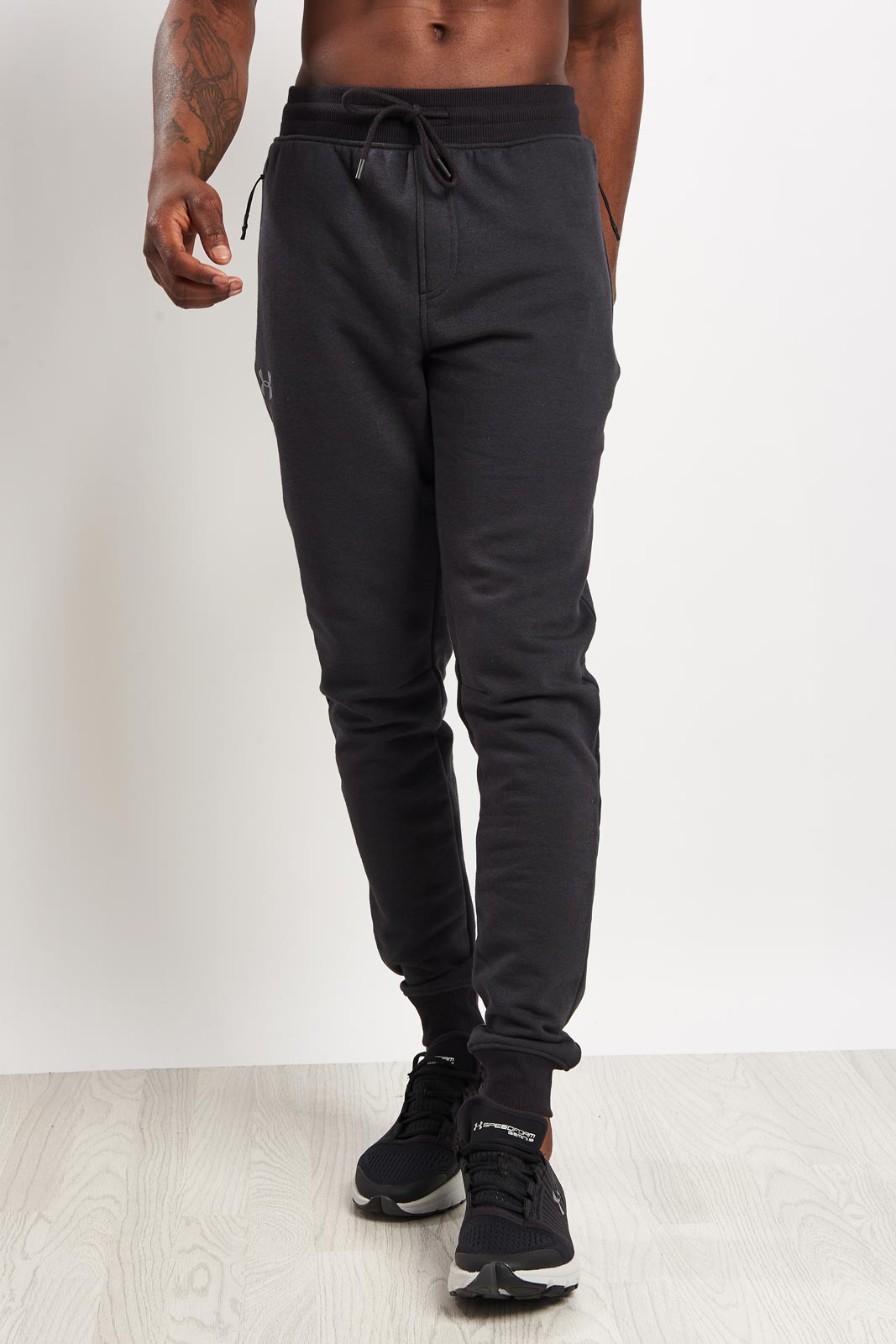 Under Armour Threadborne Stacked Jogger-Grey image 1 - The Sports Edit