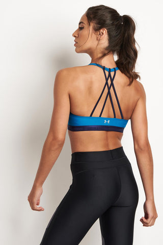 Under Armour Armour Low Strappy Bra - Bayou image 1 - The Sports Edit