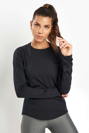Under Armour UA Swyft Long Sleeve Top - Black image 5 - The Sports Edit
