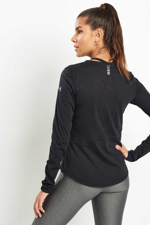Under Armour UA Swyft Long Sleeve Top - Black image 2 - The Sports Edit