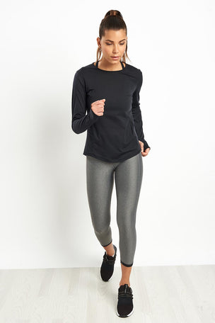 Under Armour UA Swyft Long Sleeve Top - Black image 4 - The Sports Edit