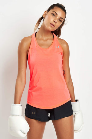 Under Armour Swyft Racer Tank - Brill/Ref image 5 - The Sports Edit
