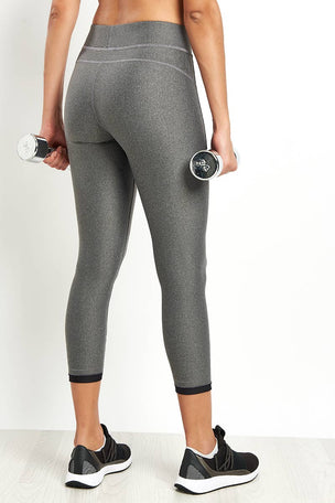 Under Armour HeatGear Armour Ankle Crop Leggings - Silver image 2 - The Sports Edit