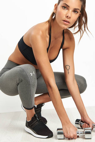 Under Armour HeatGear Armour Ankle Crop Leggings - Silver image 3 - The Sports Edit