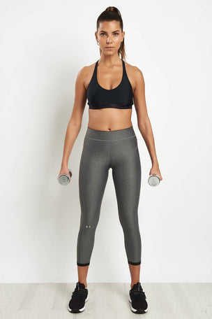 Under Armour HeatGear Armour Ankle Crop Leggings - Silver image 4 - The Sports Edit
