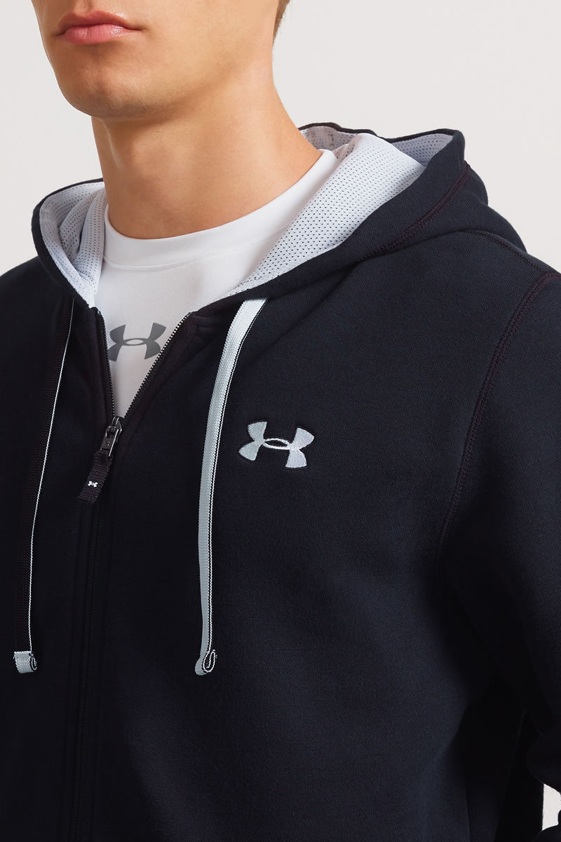 Under Armour CC Storm Rival Full Zip Hoodie - Black image 3 - The Sports Edit
