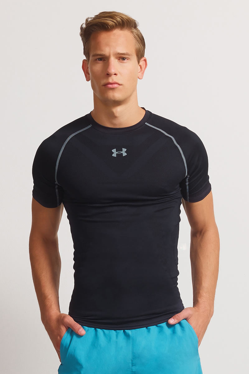 Under Armour Armourvent Compression Short Sleeve T-Shirt Black image 1 - The Sports Edit