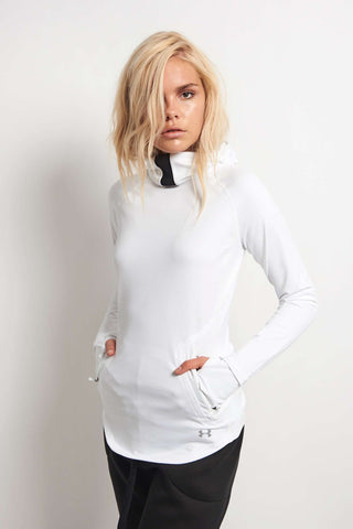 Under Armour No Breaks Balaclava Hoodie White image 1 - The Sports Edit