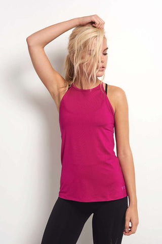 Under Armour Wishbone Tank Magenta Shock image 1 - The Sports Edit