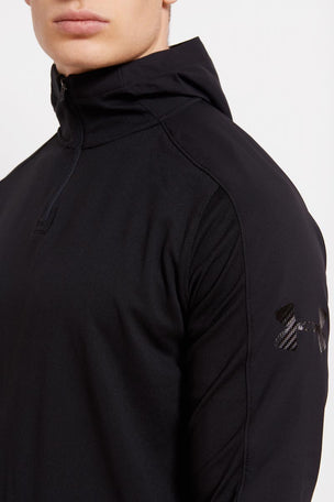 Under Armour UA Scope Hoodie 1/4 Zip-BLK image 3 - The Sports Edit