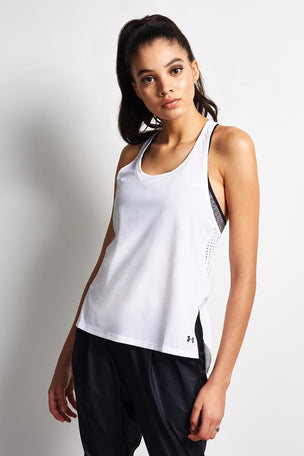 Under Armour Accelerate Tank Top - White image 2 - The Sports Edit