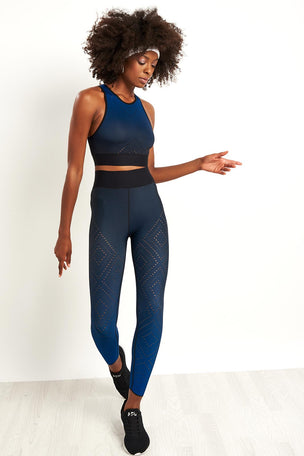 Ultracor Altitude Argyle Pixelate Crop Top - Sapphire image 4 - The Sports Edit