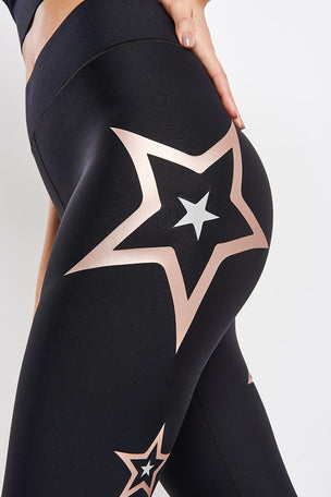 Ultracor Ultra Pop Star Leggings - Brushed Rose image 3 - The Sports Edit