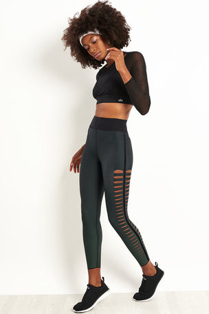 Ultracor Sprinter Velvet Slash Leggings - Emerald image 4 - The Sports Edit
