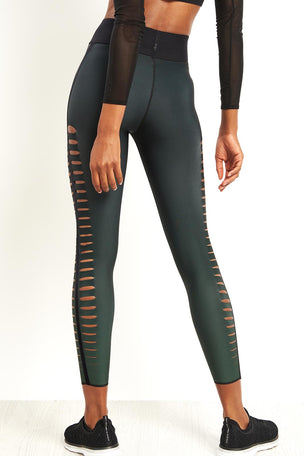 Ultracor Sprinter Velvet Slash Leggings - Emerald image 3 - The Sports Edit