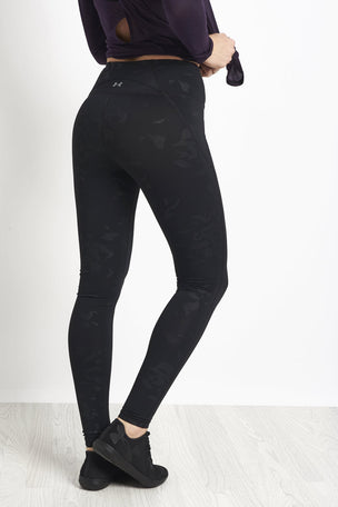 Under Armour Mirror High-Rise Printed Leggings Black/ Black image 2 - The Sports Edit