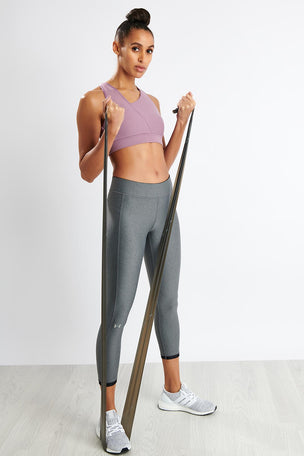 Under Armour HeatGear® Armour Ankle Crop - Grey image 4 - The Sports Edit