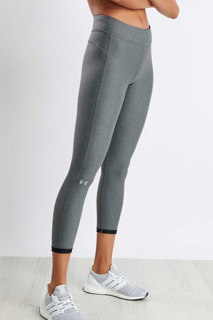 Under Armour HeatGear® Armour Ankle Crop - Grey image 1 - The Sports Edit