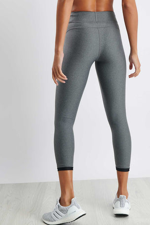 Under Armour HeatGear® Armour Ankle Crop - Grey image 2 - The Sports Edit