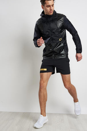 Under Armour Perpetual Full Zip Jacket - Black/Gold image 5 - The Sports Edit