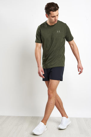 Under Armour CC Left Chest Lockup T-Shirt - Green image 5 - The Sports Edit