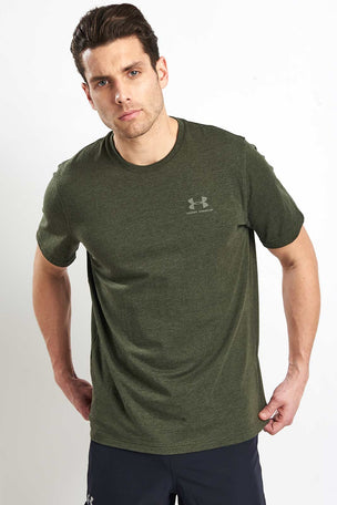 Under Armour CC Left Chest Lockup T-Shirt - Green image 1 - The Sports Edit