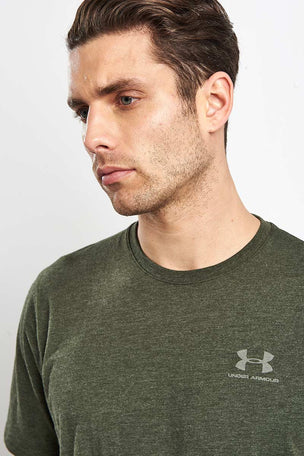 Under Armour CC Left Chest Lockup T-Shirt - Green image 3 - The Sports Edit