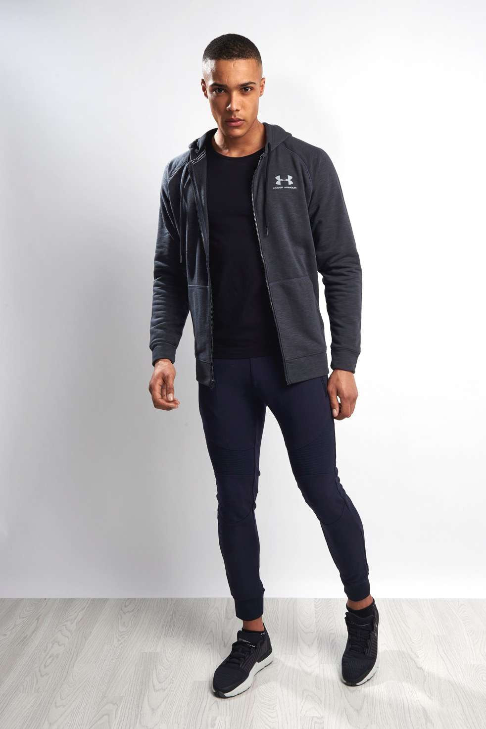 Under Armour UA Sportstyle Fleece Full Zip Hoody - Black image 4 - The Sports Edit