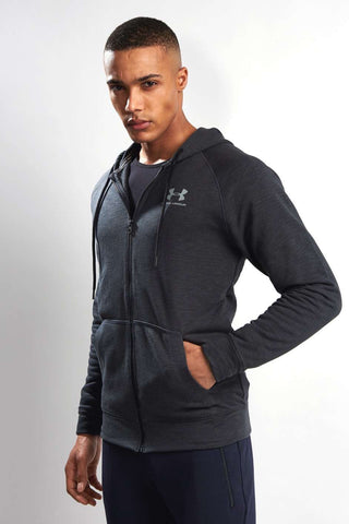 Under Armour UA Sportstyle Fleece Full Zip Hoody - Black image 2