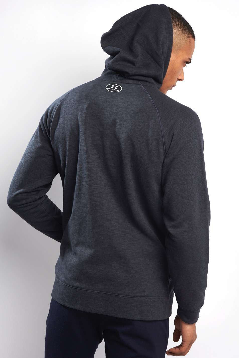 Under Armour UA Sportstyle Fleece Full Zip Hoody - Black image 3 - The Sports Edit