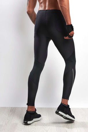 Under Armour UA Coolswitch Run Tights - Black image 2 - The Sports Edit