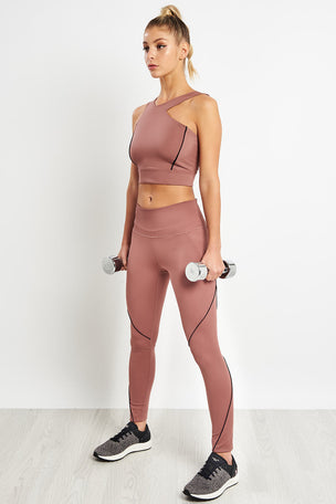 Under Armour Misty Crop Top - Dusky Pink image 4 - The Sports Edit