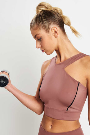 f31baa92335 Under Armour Misty Crop Top - Dusky Pink image 1 - The Sports Edit