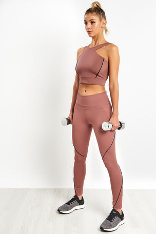 Under Armour Misty Leggings - Dusky Pink image 3 - The Sports Edit