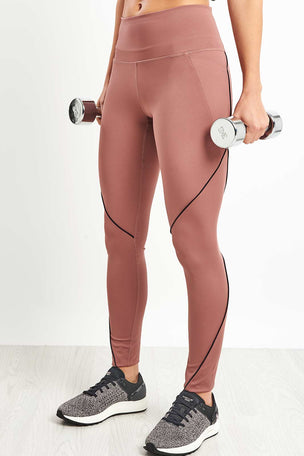 Under Armour Misty Leggings - Dusky Pink image 5 - The Sports Edit