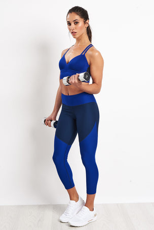Under Armour Perpetual Bra Blue image 4 - The Sports Edit