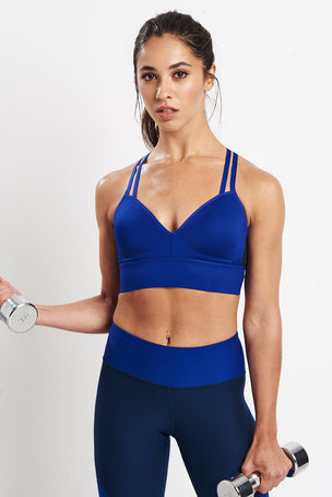 Under Armour Perpetual Bra Blue image 5 - The Sports Edit