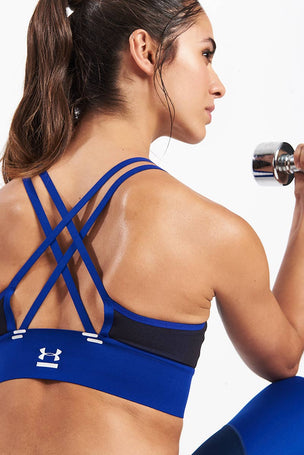 Under Armour Perpetual Bra Blue image 3 - The Sports Edit