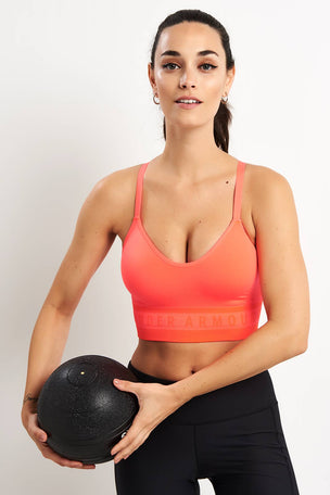 Under Armour Seamless Longline Bra - After Burn image 5 - The Sports Edit